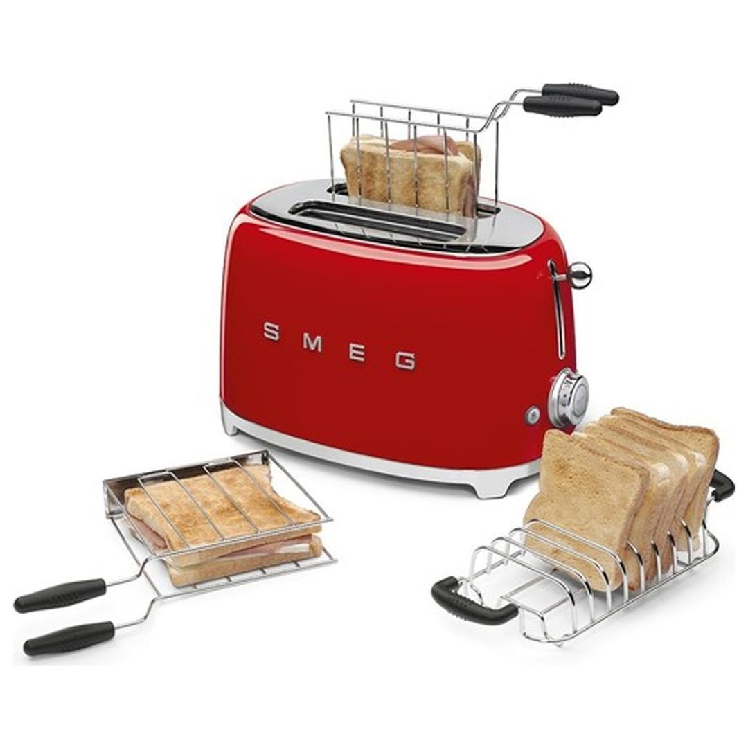 Smeg 2x2 Ekmek Kızartma Makinesi Red Tsf01rdeu