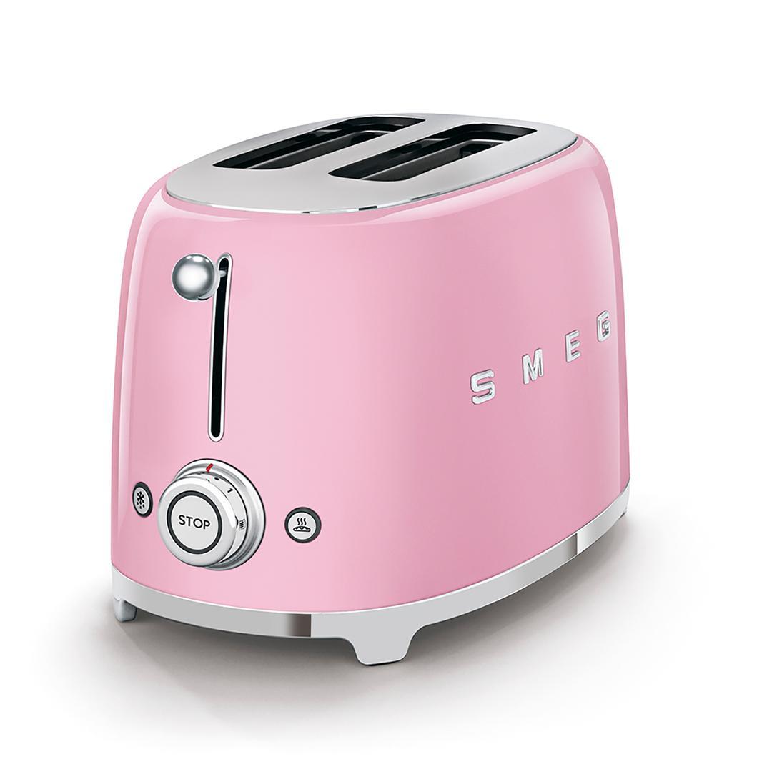 Smeg 2x2 Ekmek Kızartma Pink Tsf01pkeu