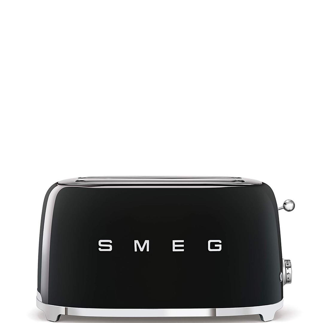 Smeg 2x4 Ekmek Kızartma Black Tsf02bleu