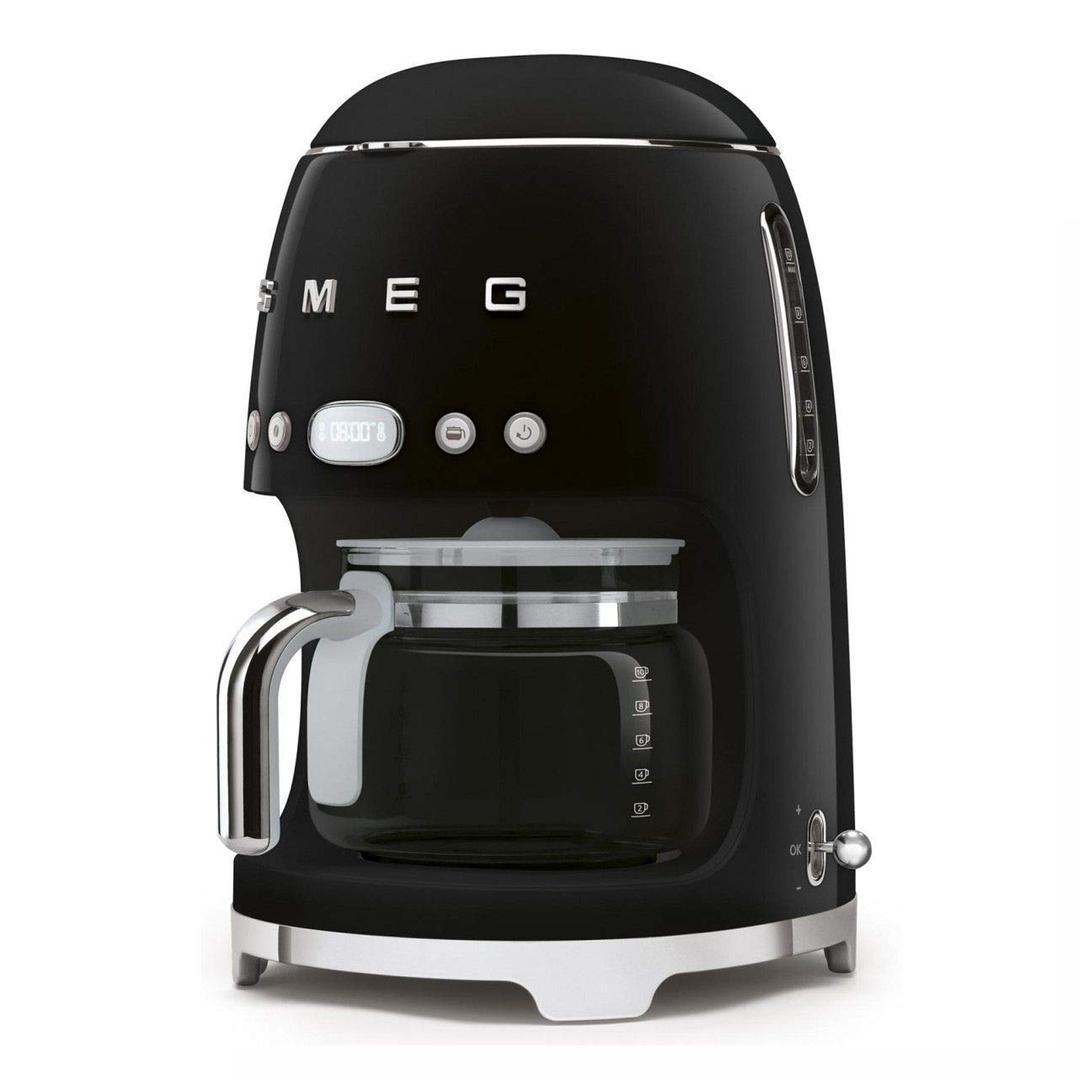 Smeg- Linea 50's Retro Style -Filtre Kahve Makinesi - Black Dcf02bleu
