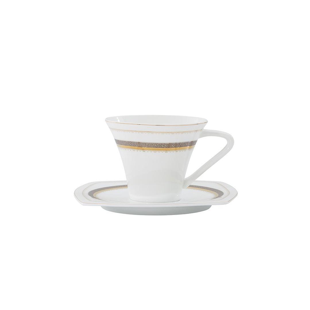 Jumbo Lucida 12 Parça Royal Pearl 6 Kişilik Kahve Fincan Takımı
