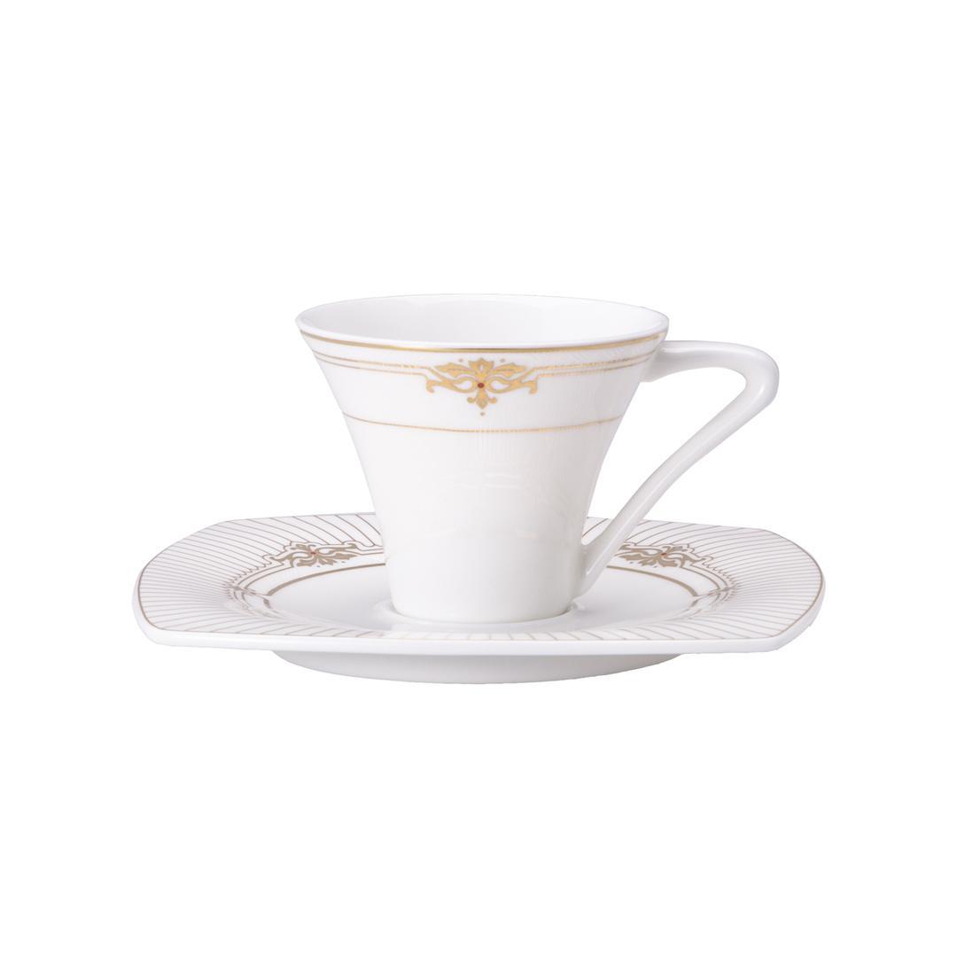 Jumbo Quenn 6 Kişilik 12 Parça Royal Pearl  Kahve Fincan Takımı