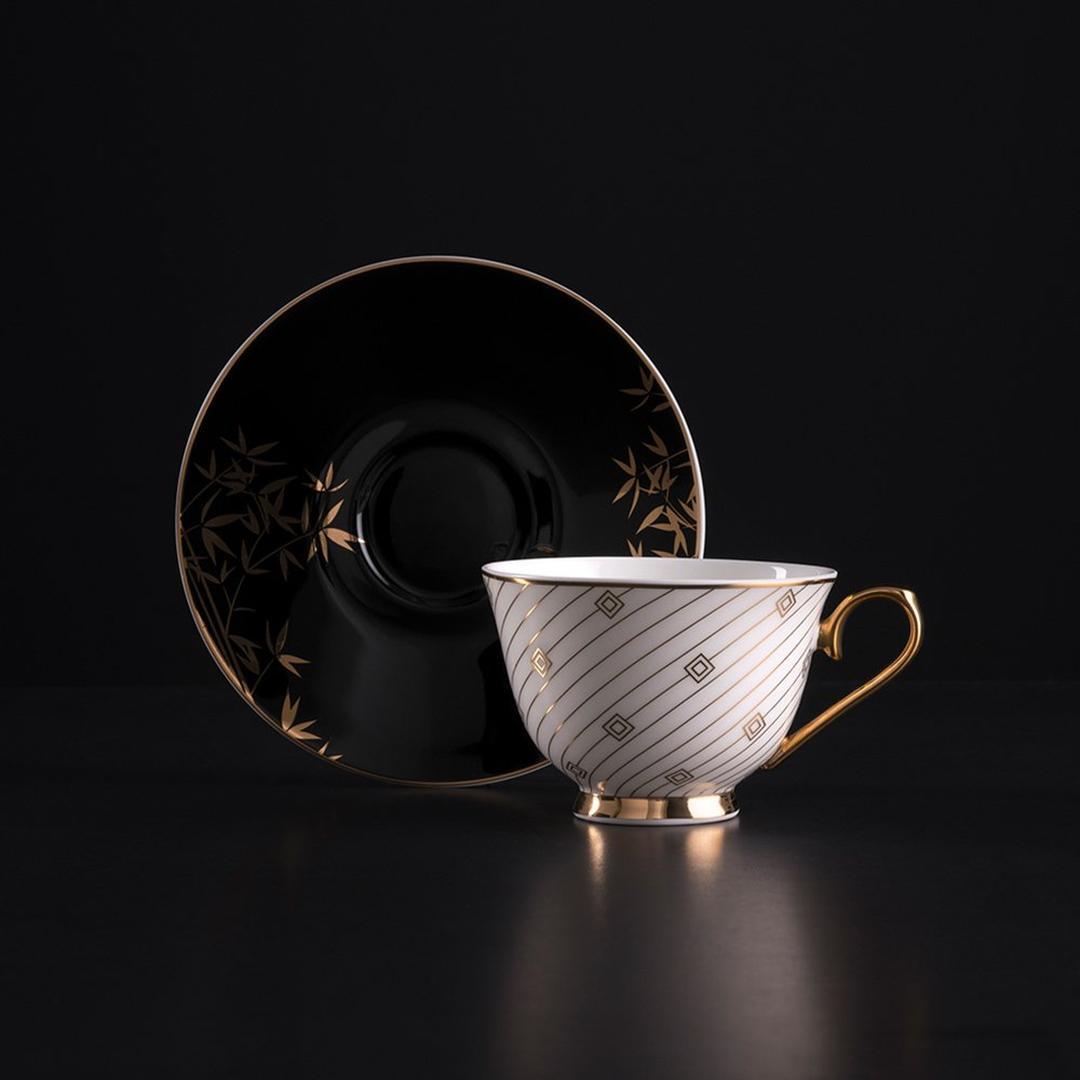 Jumbo Gold Bambu 2'li Kahve Fincan Takımı