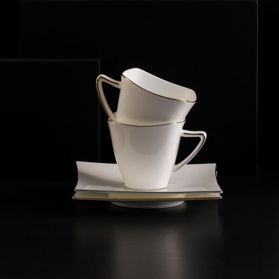 Jumbo Wind Gold  6 Kişilik  12 Parça Çay Fincanı Takımı