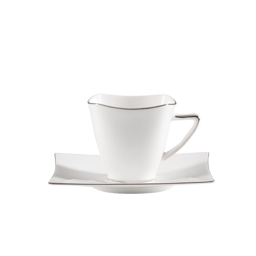 Jumbo Wind Platin 6 Kişilik 12 Parça Çay Fincanı Takımı