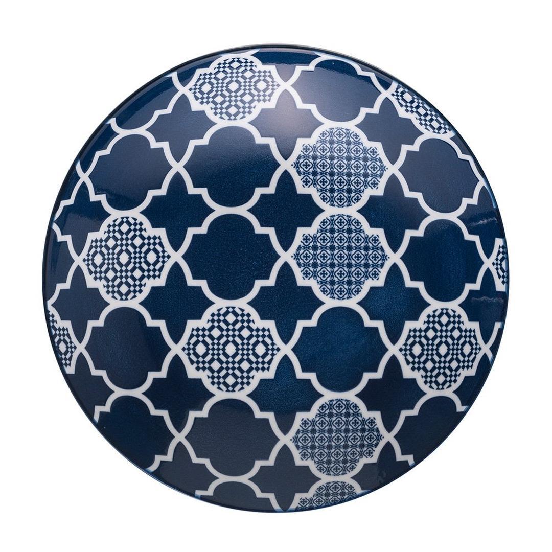Jumbo Deep Blue 22 cm Desenli Çukur Tabak
