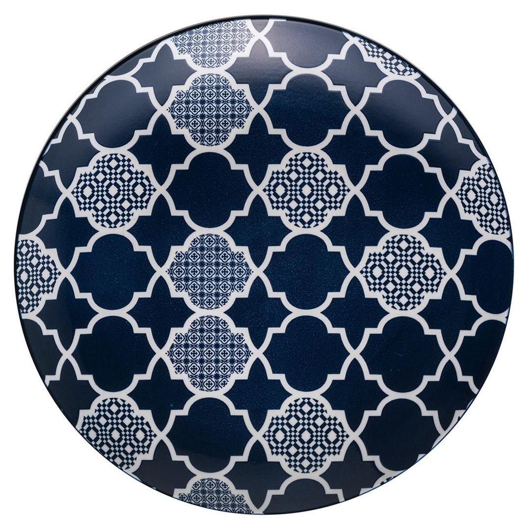 Jumbo Deep Blue Desenli 26 cm Düz Tabak