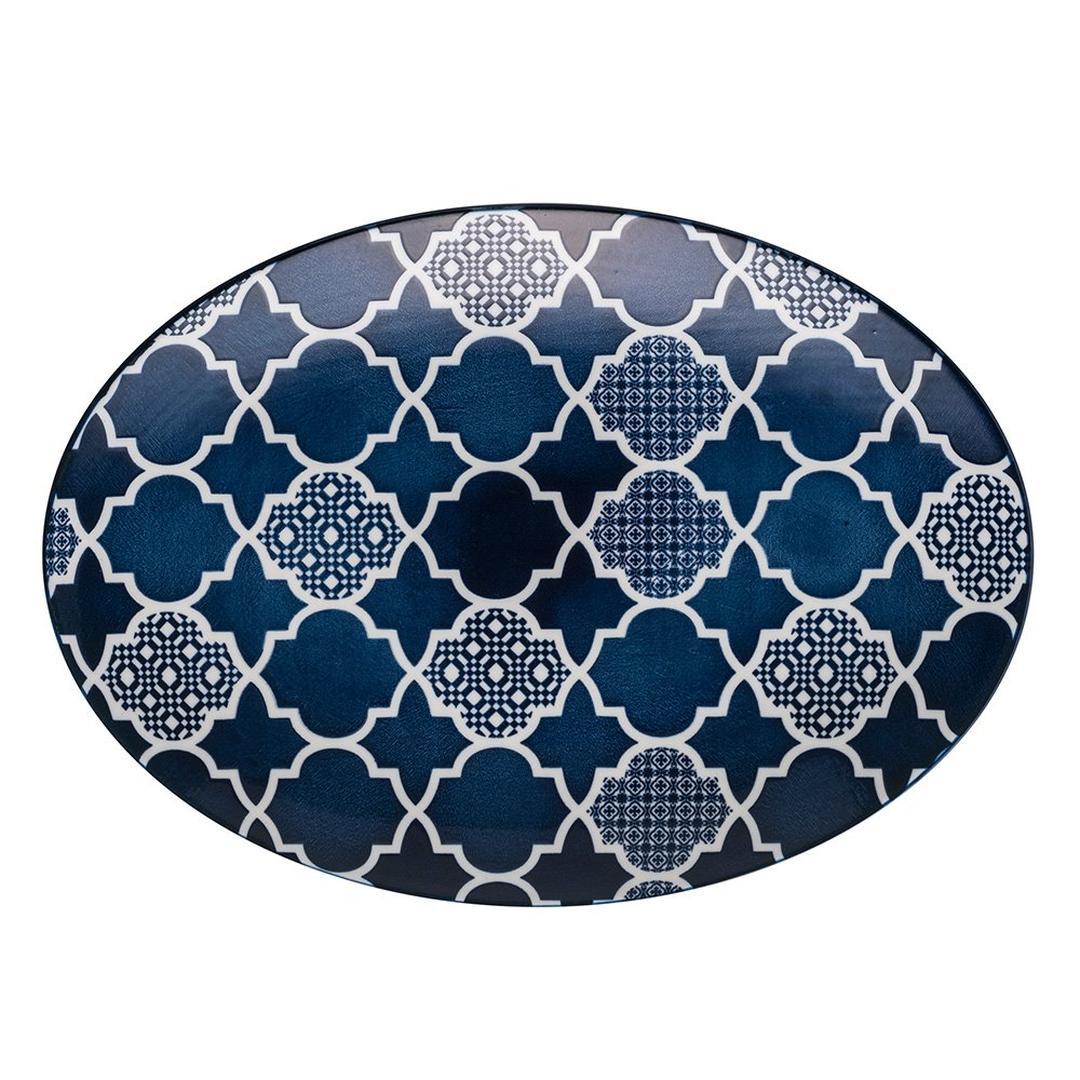 Deep Blue 24 cm Desenli Kayık Tabak