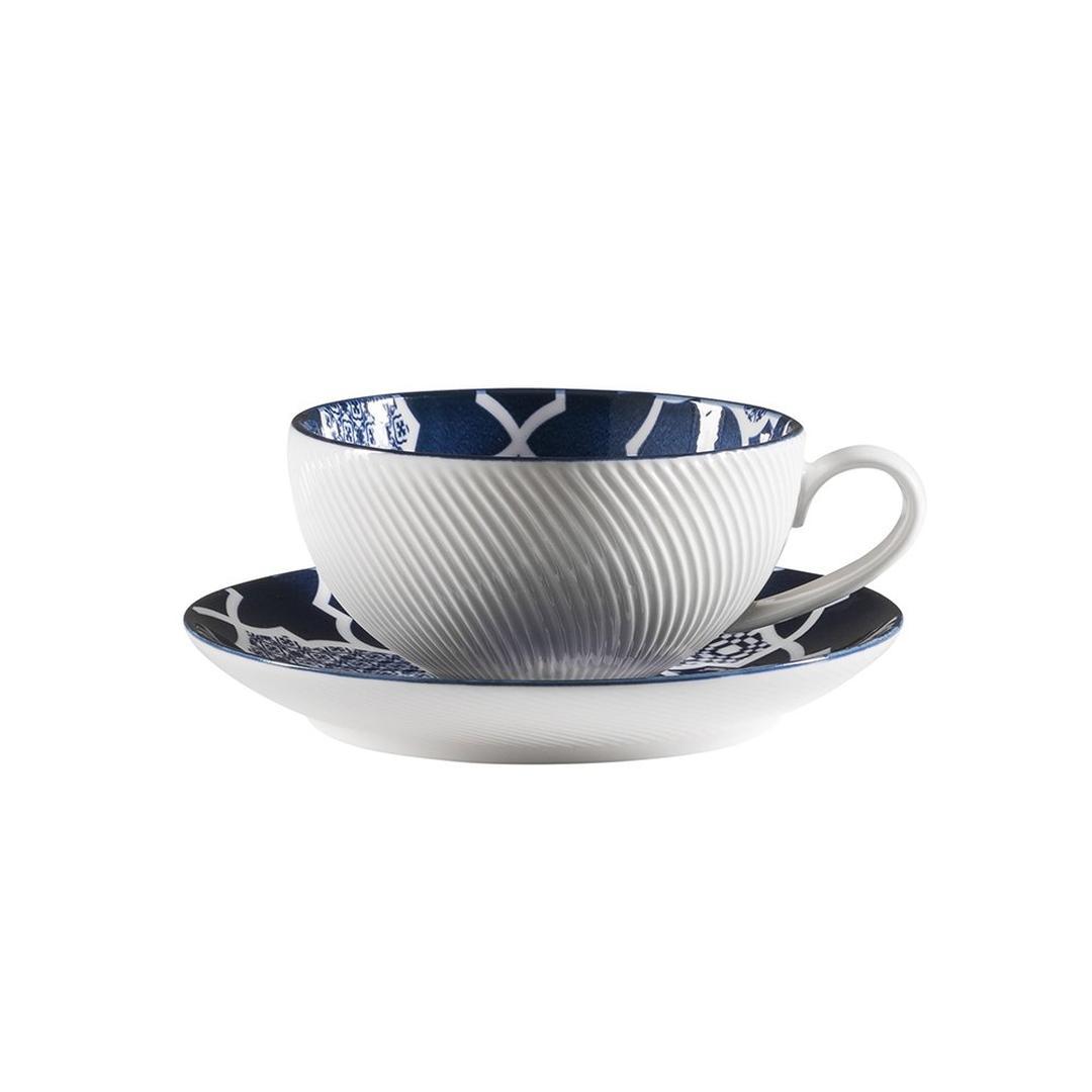 Jumbo Deep Blue Desenli 10 cm Çay Fincanı ( Tabaksız)