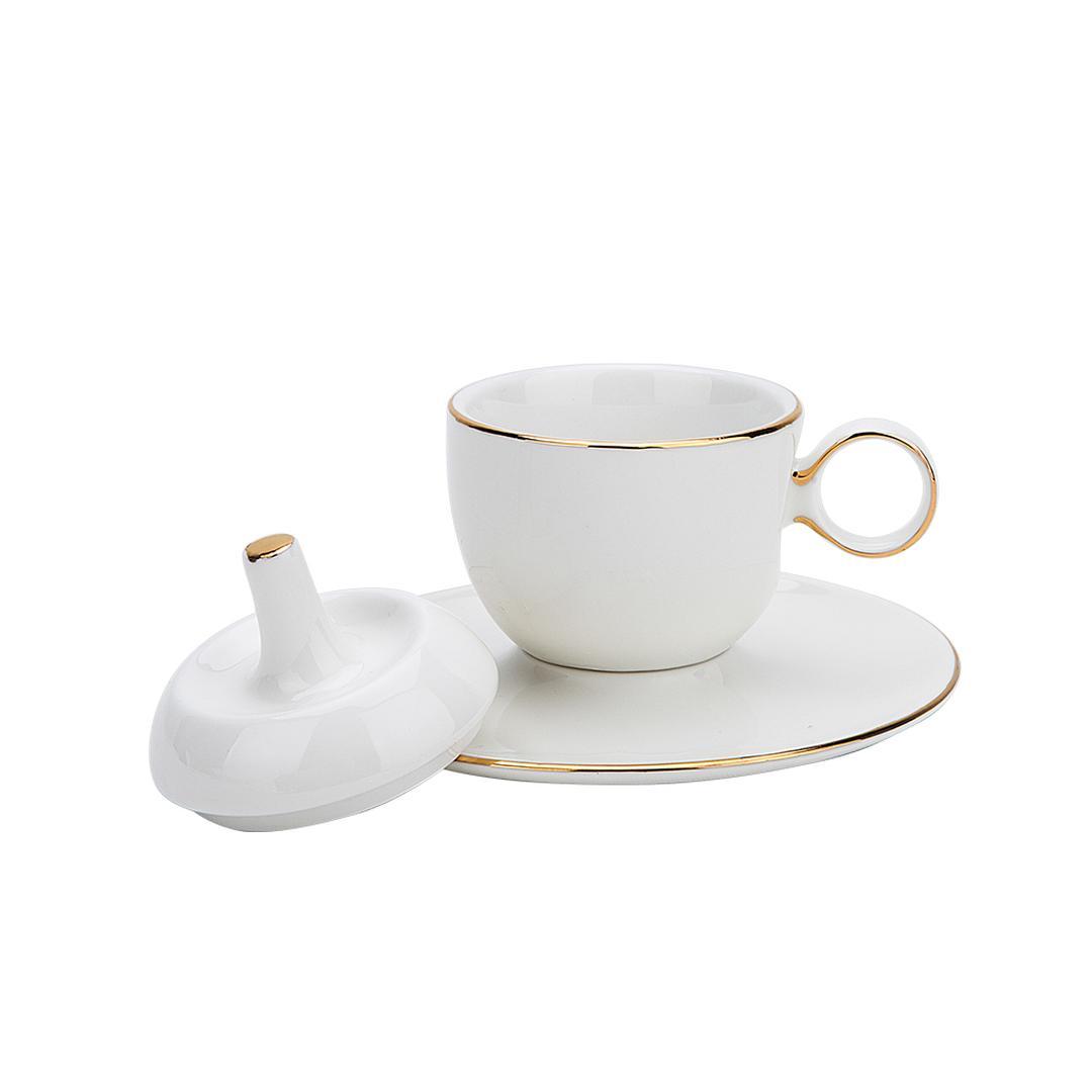 Jumbo Globe Gold 2 Kişilik Kahve Fincan Takımı