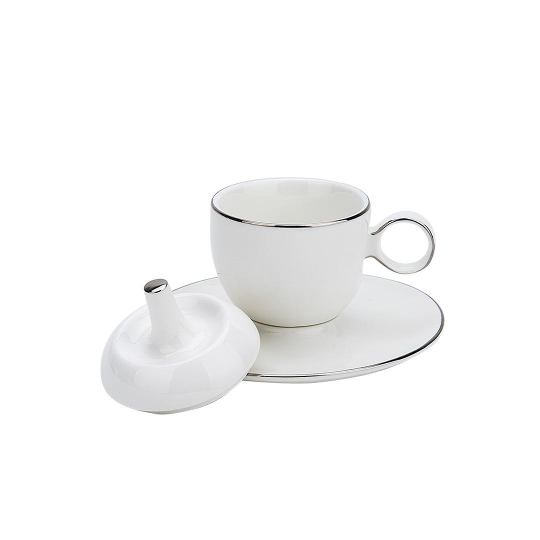Jumbo Globe Platin 2 Kişilik Kahve Fincan Takımı