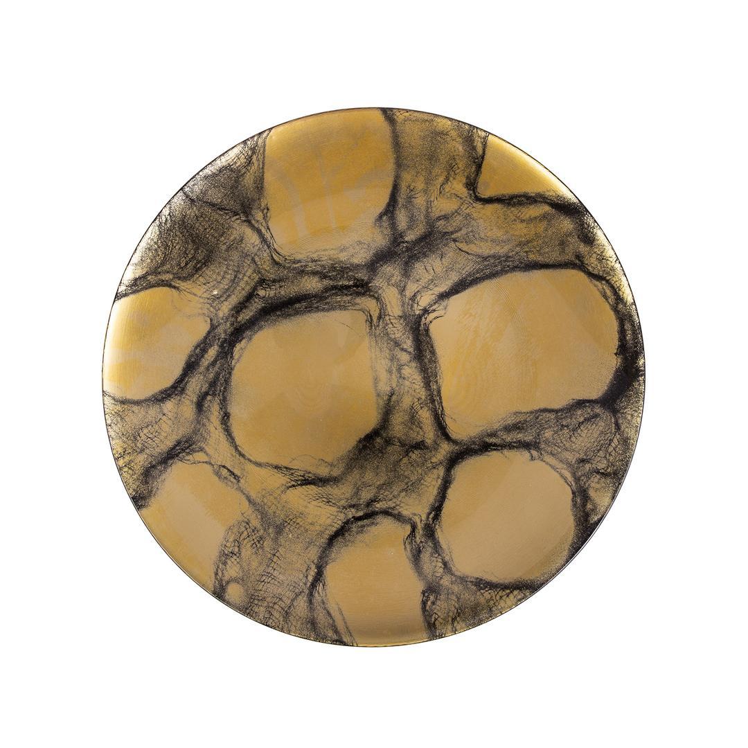 Jumbo Pop 33 cm  Siyah-Altın Tabak