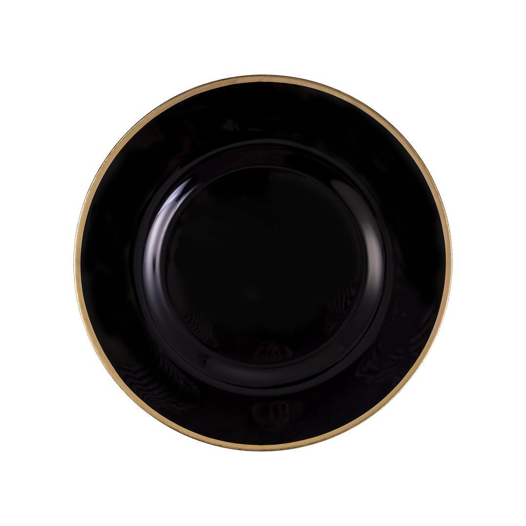 Jumbo Pop 33 cm  Altın Rim-Opak Siyah Tabak