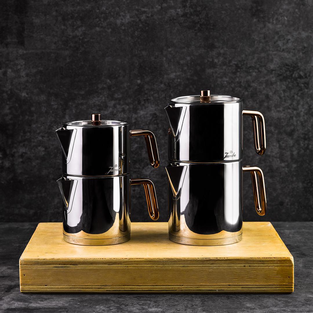 Jumbo Metalix Titanyum Bronz Çaydanlık