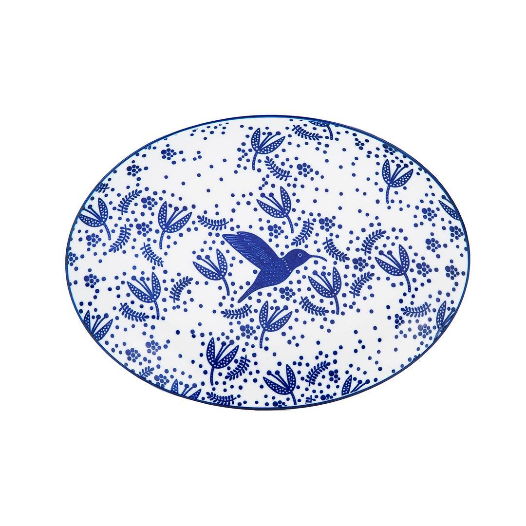 Jumbo Azure Kayık Tabak 25 cm