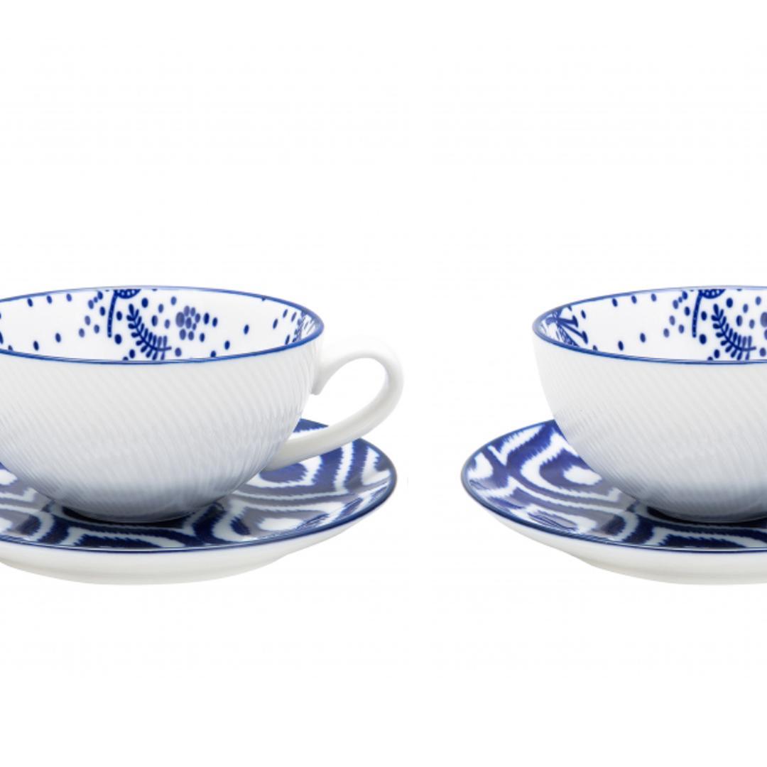 Jumbo Azure 2'li Çay Fincanı