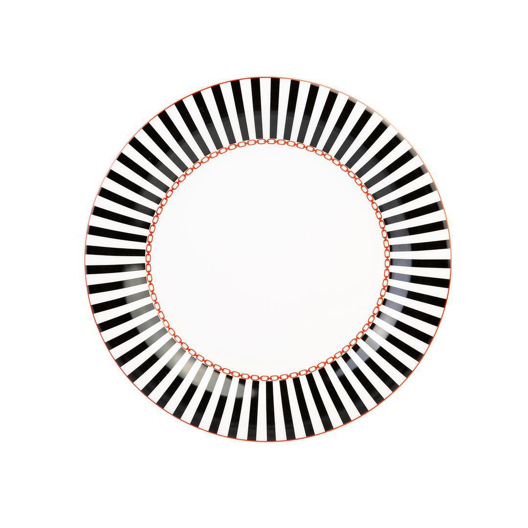 Jumbo Royal Black Colors 6 Kişilik  24 Parça Yemek Takımı