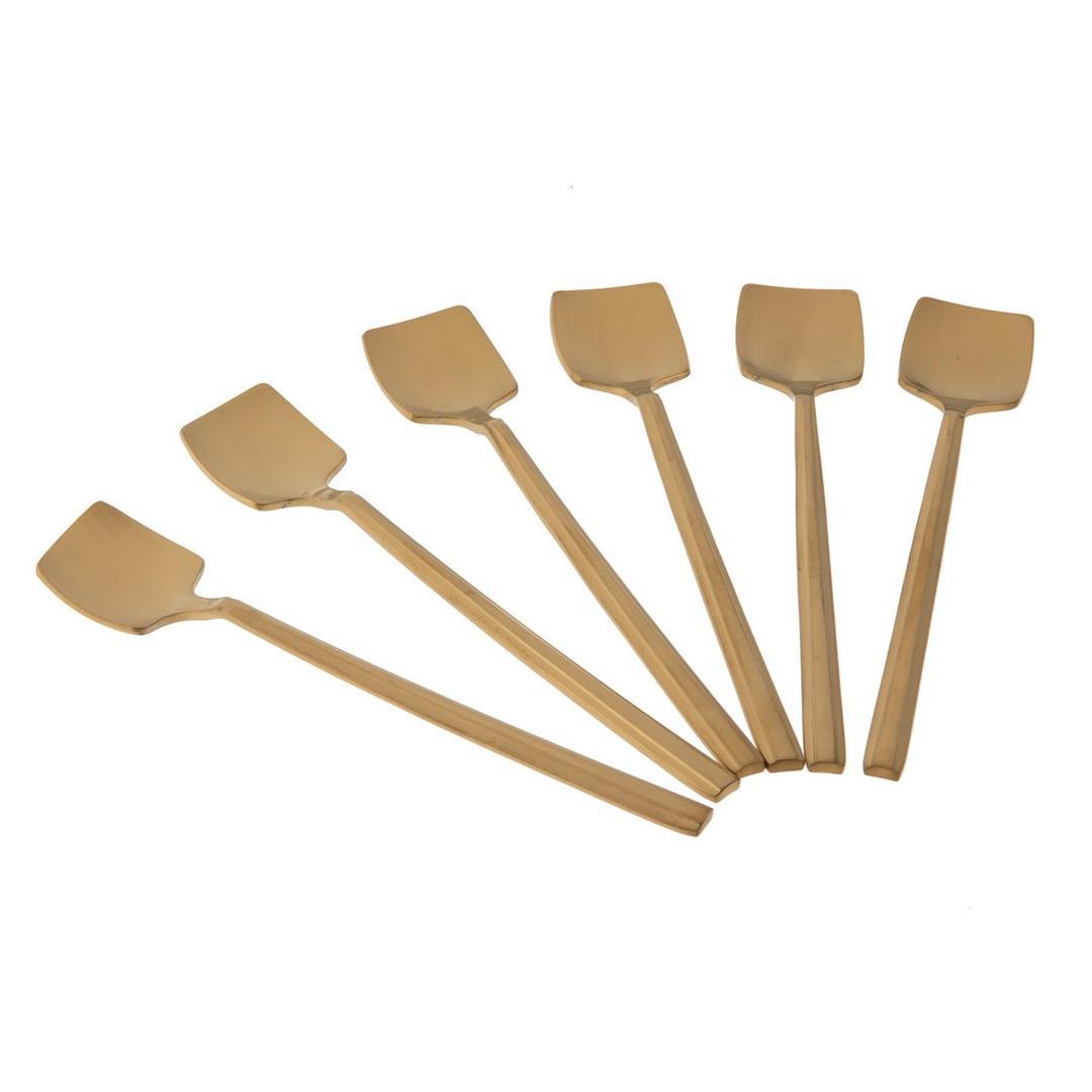 Jumbo Soho 6'lı Çay Kaşık Seti Mat Gold