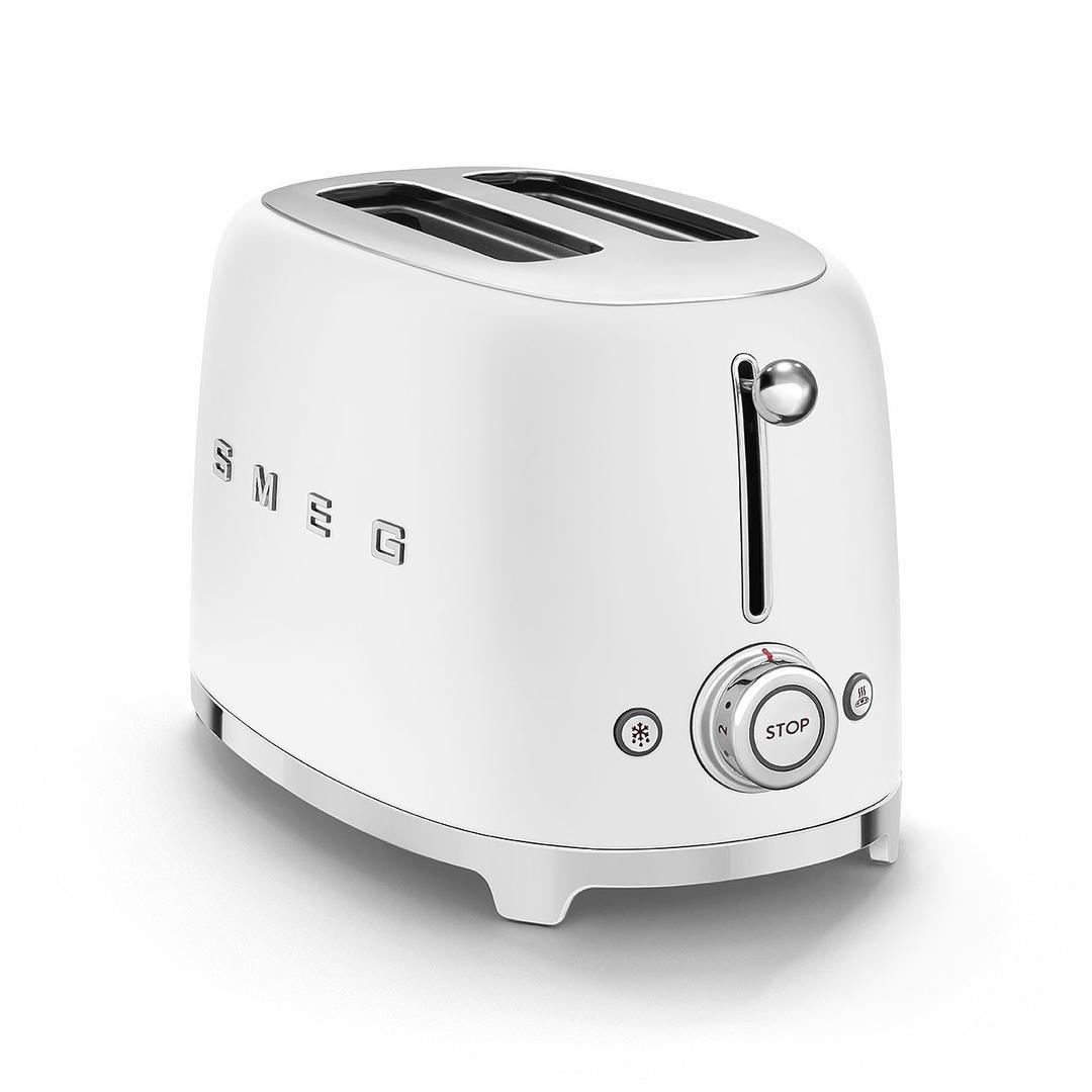 Smeg 2X2 Mat White Ekmek Kızartma Makinesi  TSF01WHMEU