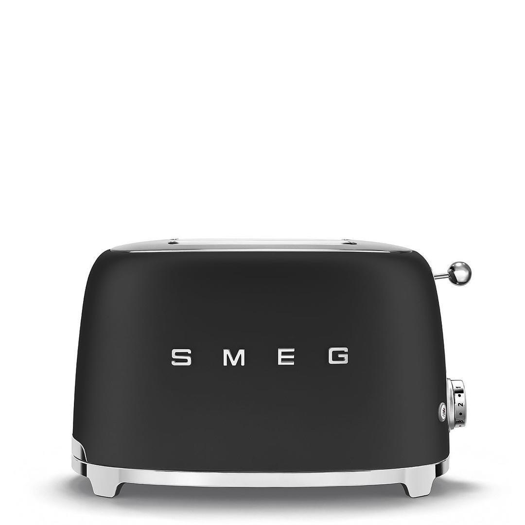 Smeg 2X2 Ekmek Kızartma Mat Black TSF01BLMEU
