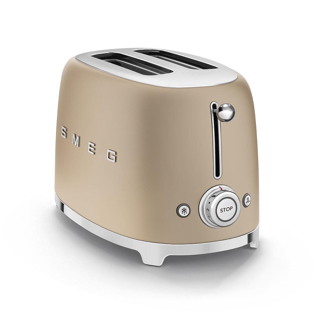 Smeg 2X2  Mat Gold Ekmek Kızartma Makinesi TSF01CHMEU