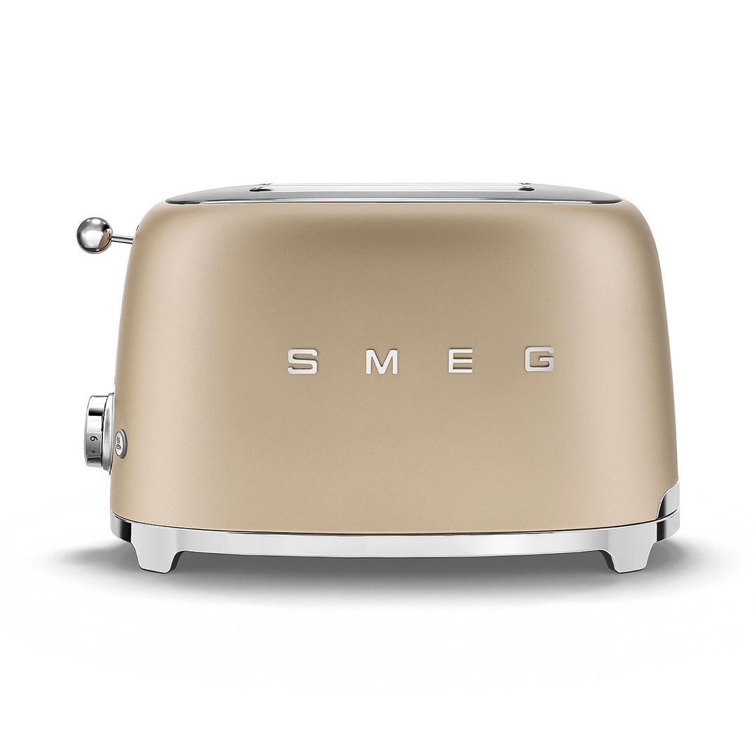 Smeg 2X2 Ekmek Kızartma Mat Gold TSF01CHMEU