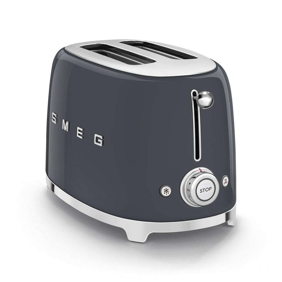 Smeg 2X2 Barut Grey  Ekmek Kızartma Makinesi TSF01GREU