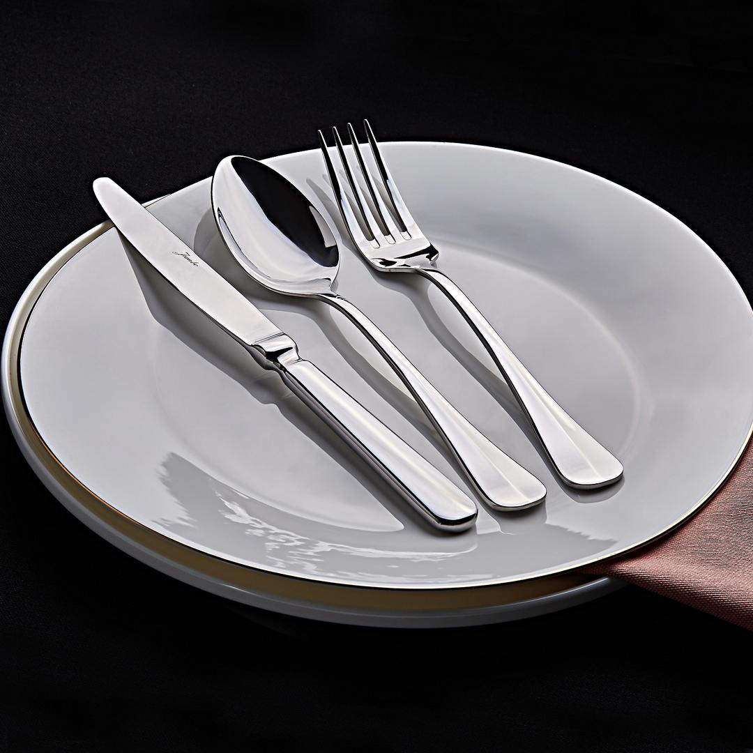 Jumbo 1500 6 Kişilik 18 Parça Çatal Kaşık Bıçak Yemek Takımı