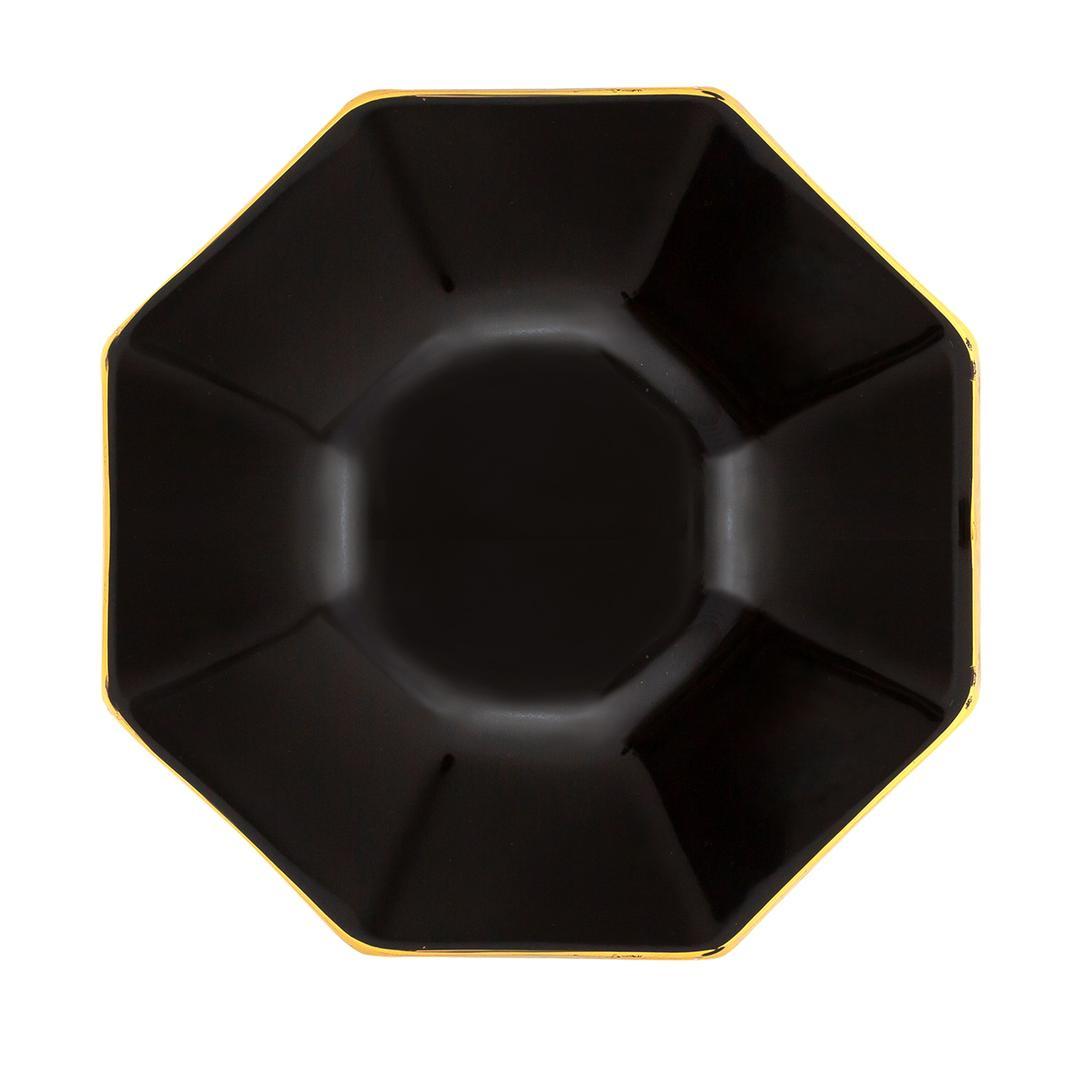 Jumbo Spirng 12 Parça Çay Seti Siyah Altın