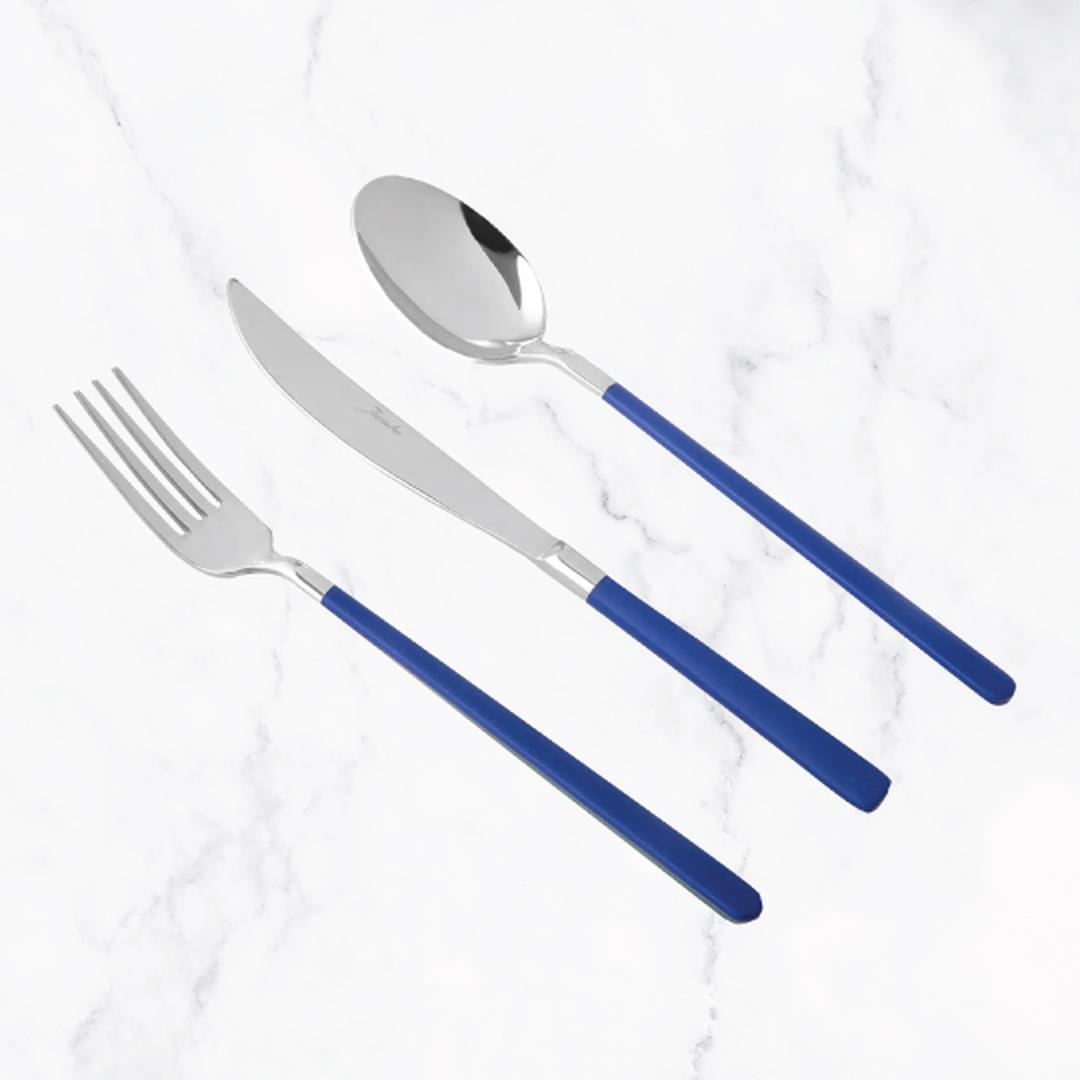 Jumbo Paint Blue 6 Kişilik 18 Parça Yemek Çatal Kaşık Bıçak Takımı