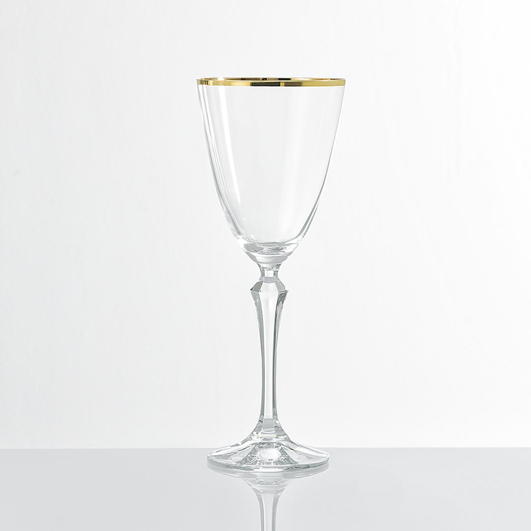 Jumbo Ribbon Gold 6'lı Şarap Kadehi