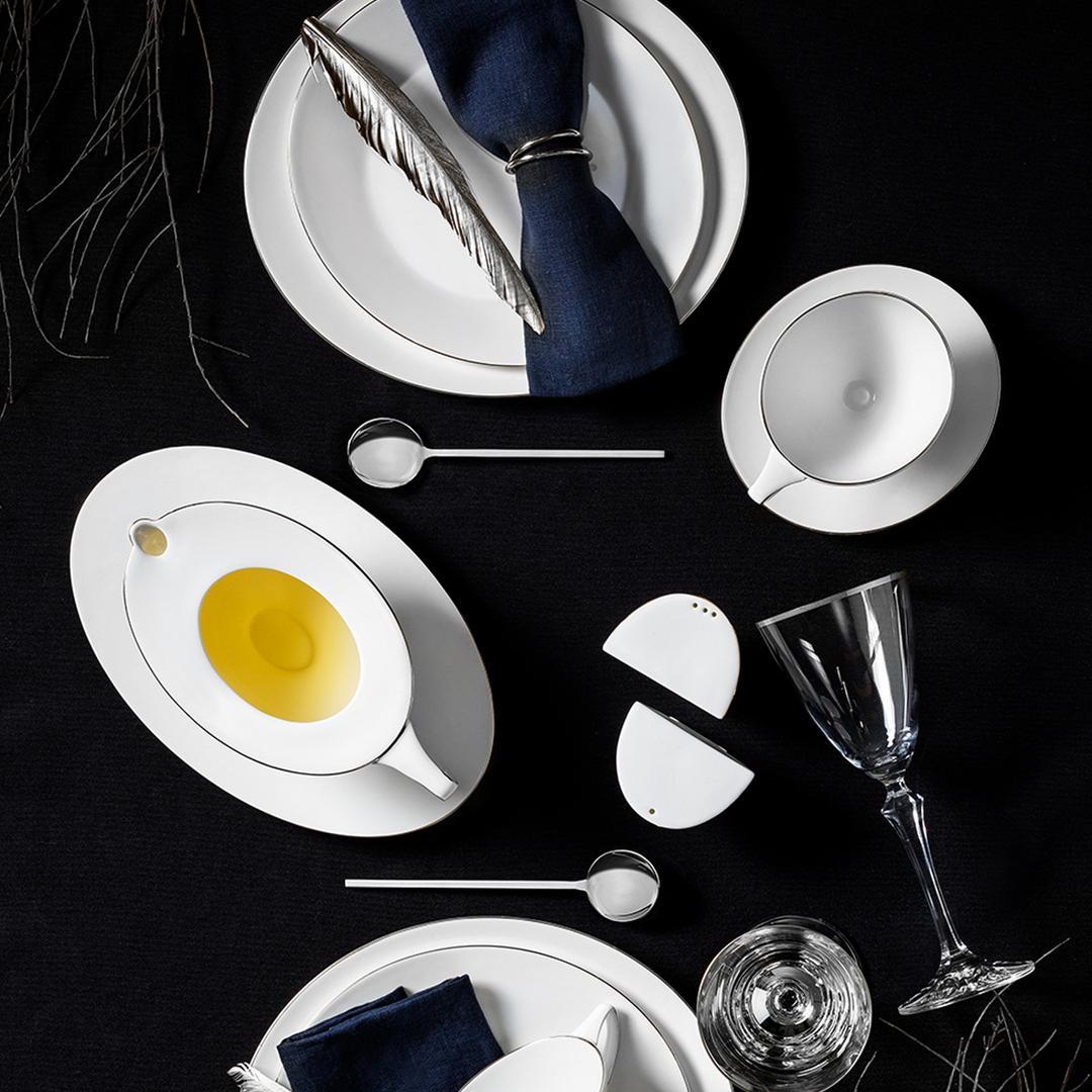 Jumbo Moon Platin 12 Kişilik 64 Parça  Yemek Takımı