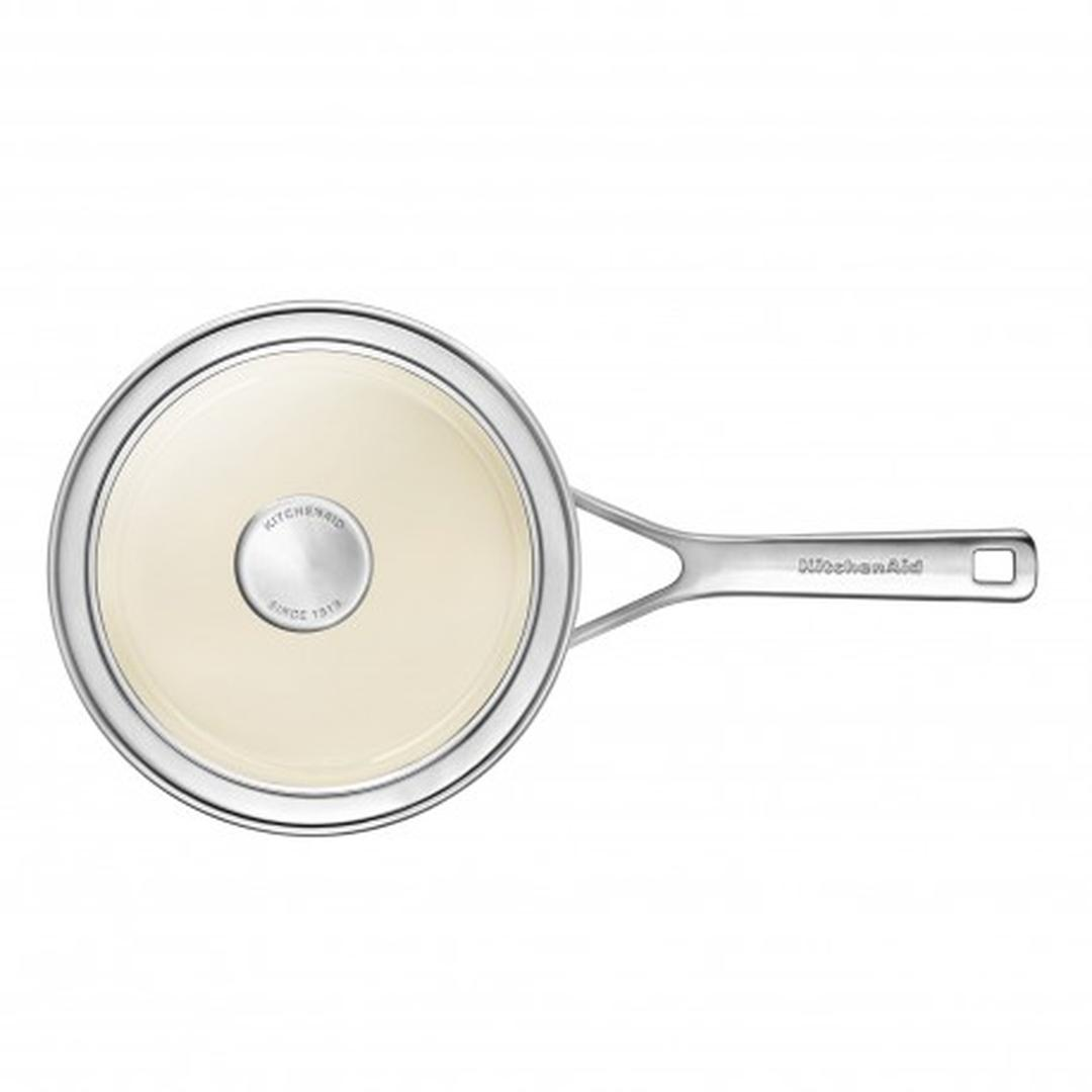 Kitchenaid Art. Almond Cream 16cm Emaye Çelik Sosluk -CC003286