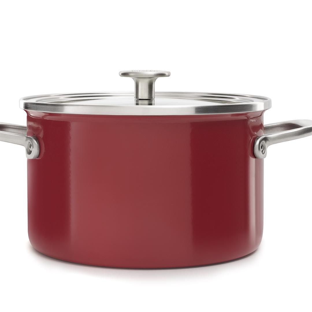 Kitchenaid Art. 20cm  Empire Red Emaye Çelik Tencere -CC003267