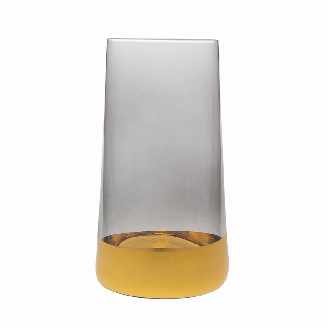Jumbo Gala 6'lı Gri Altın Meşrubat Bardağı