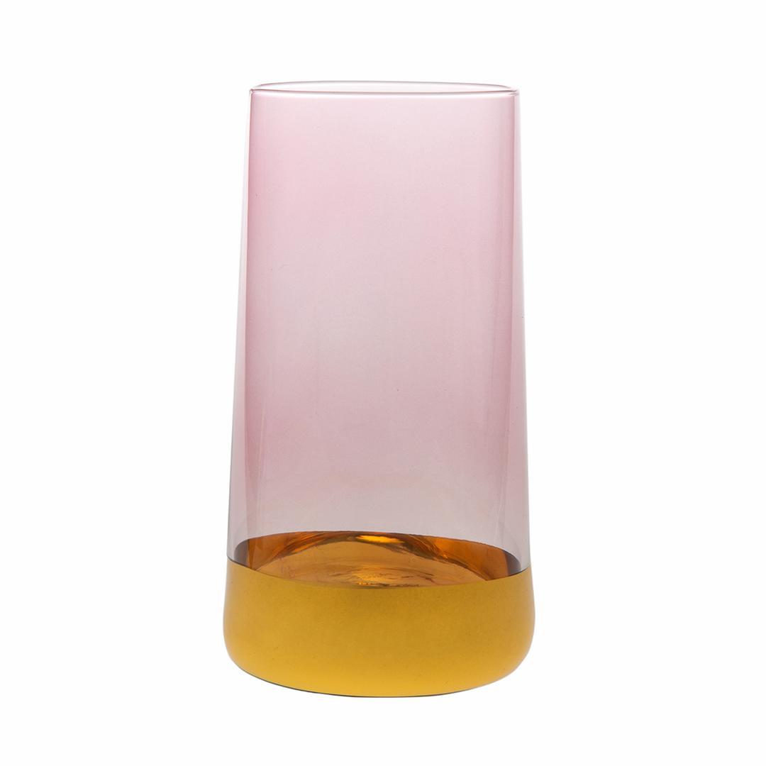 Jumbo Gala 6'lı Pembe Altın Meşrubat Bardağı