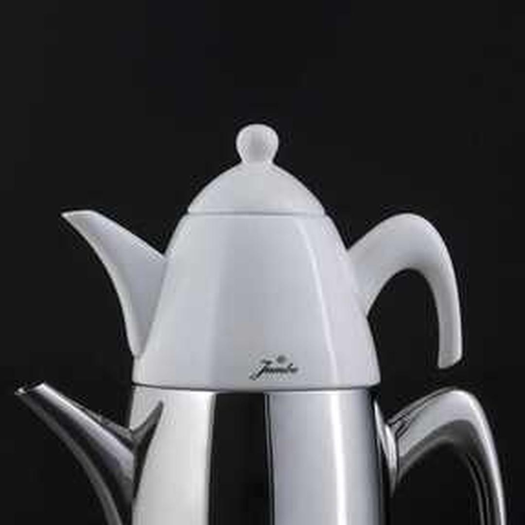 Jumbo6500 Çelik Saplı Porselenli Çaydanlık