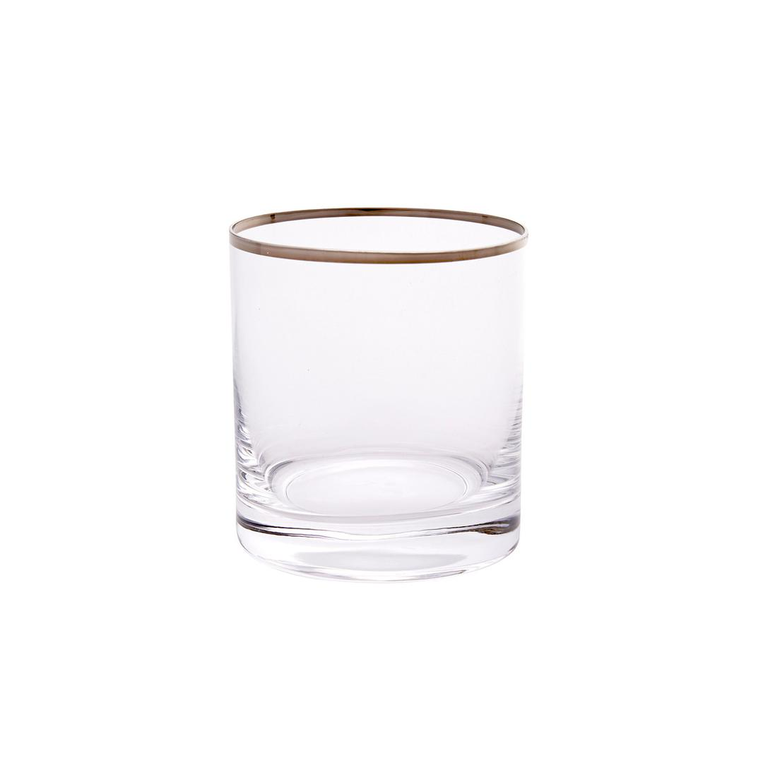 Jumbo Ribbon Platin 6'lı Viski Bardağı