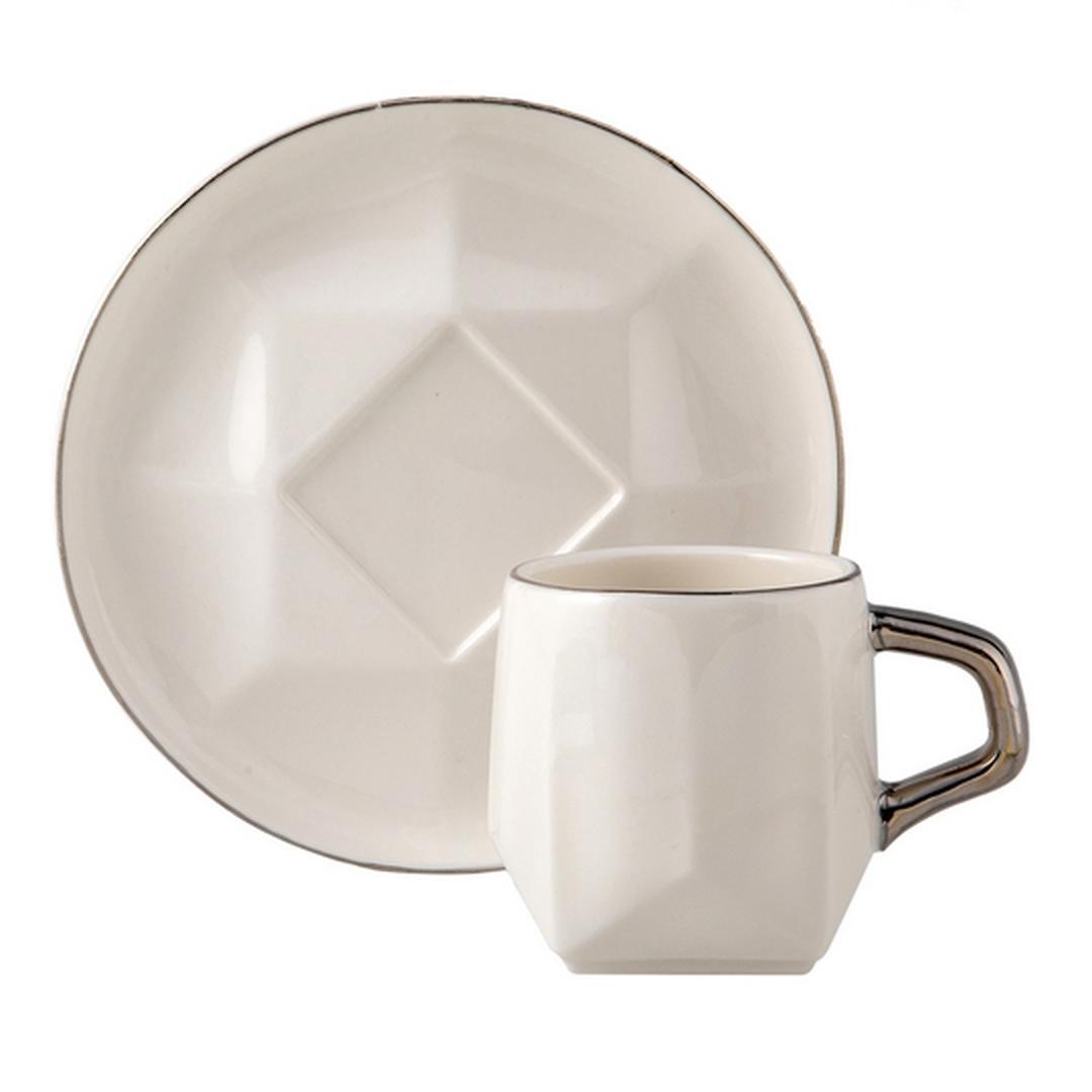 Jumbo Karo 2 Kişilik Kahve Fincan Takımı
