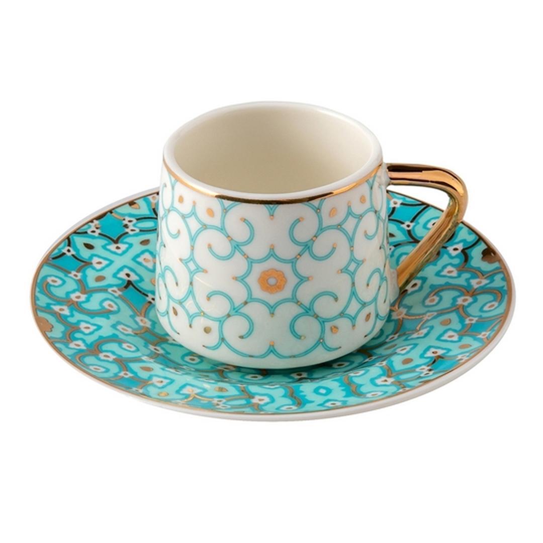 Jumbo Turquoise 2 Kişilik Kahve Fincan Takımı