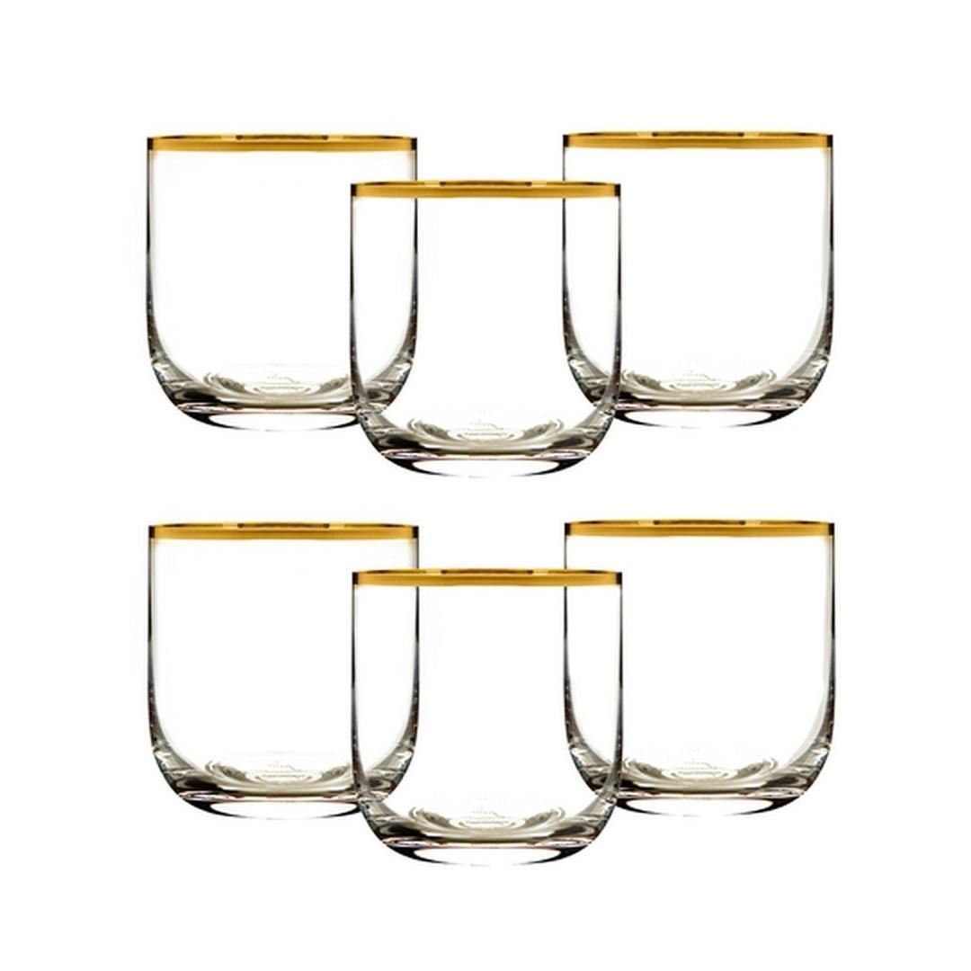 Jumbo Ronat Altın Rimli 6'lı Su Bardağı