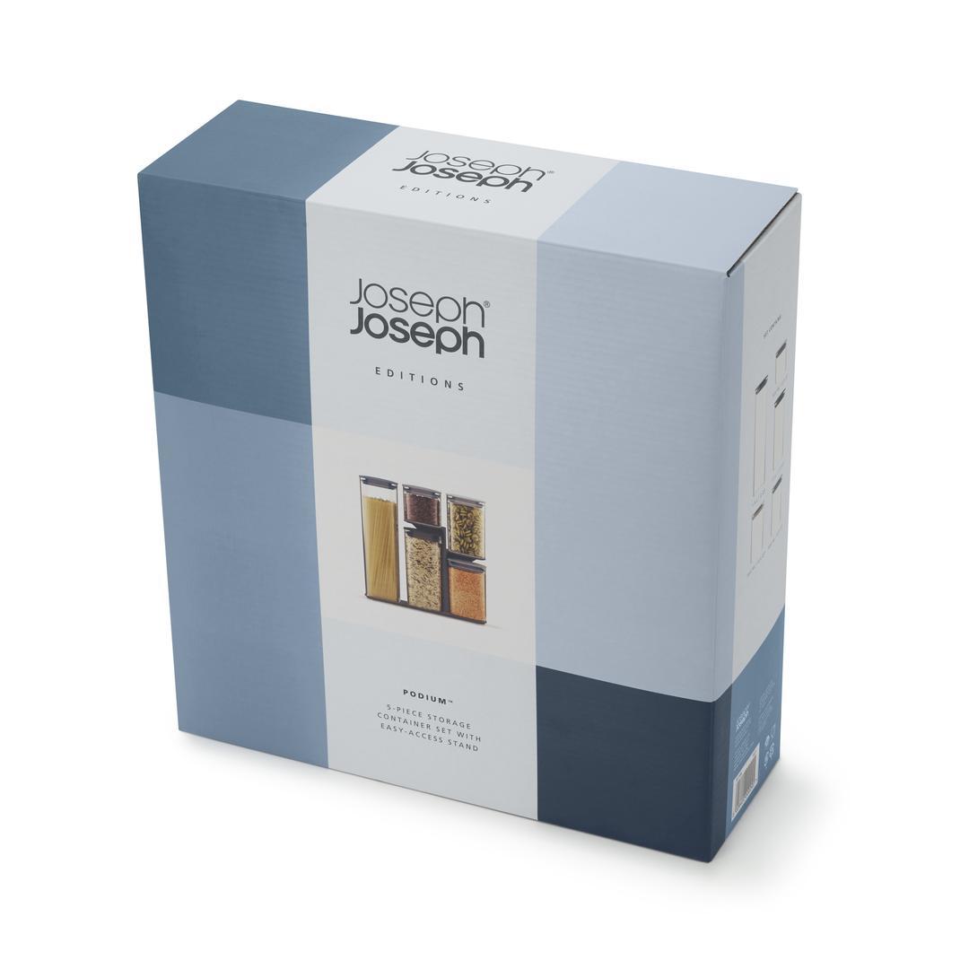 Joseph & Joseph 81106 Editions Collection Podium 5'li Saklama Kabı