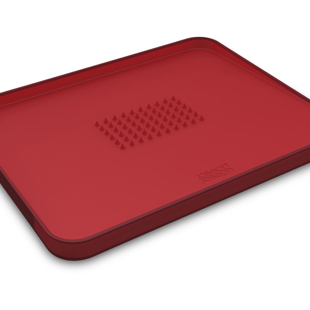 Joseph & Joseph 60004 Cut&Carve Plus Büyük Kesme Tahtası -Kırmızı