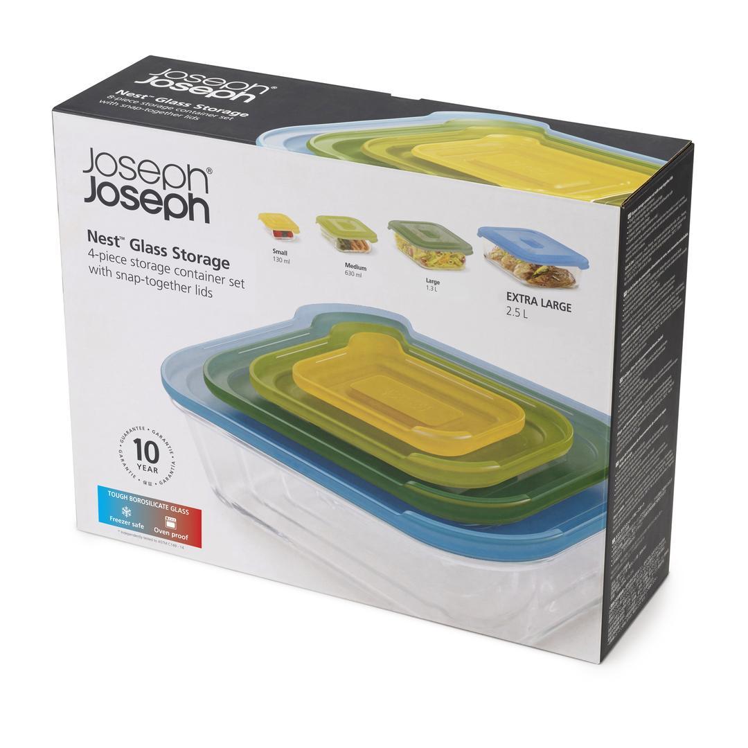 Joseph & Joseph 81060 Nest 4´lü Cam Saklama Kapları -Renkli