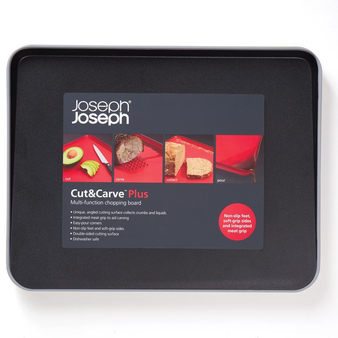 Joseph & Joseph 60002 Cut&Carve Plus Büyük Kesme Tahtası-Siyah