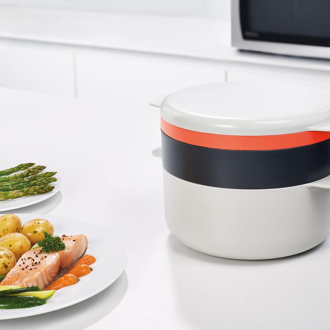 Joseph & Joseph 45001 M-Cuisine 4'lü Mikrodalga Pişirme Seti-Taş/Turuncu