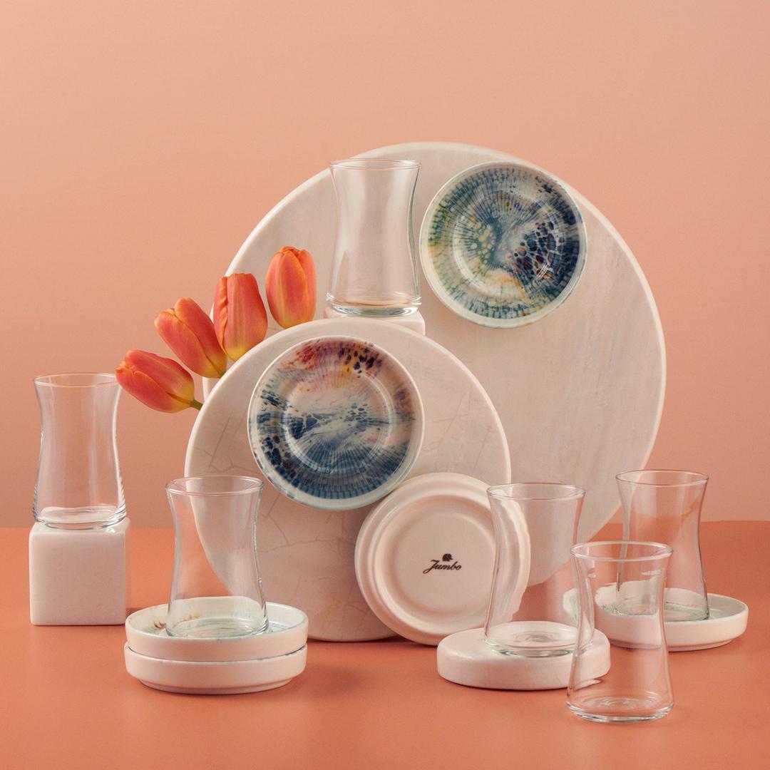 Jumbo Ocean 6 Kişilik Çay Seti