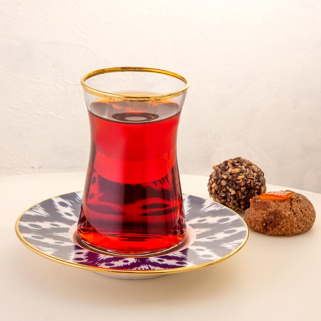 Jumbo Armonia Ikat 12 Parça Çay Bardağı Takımı