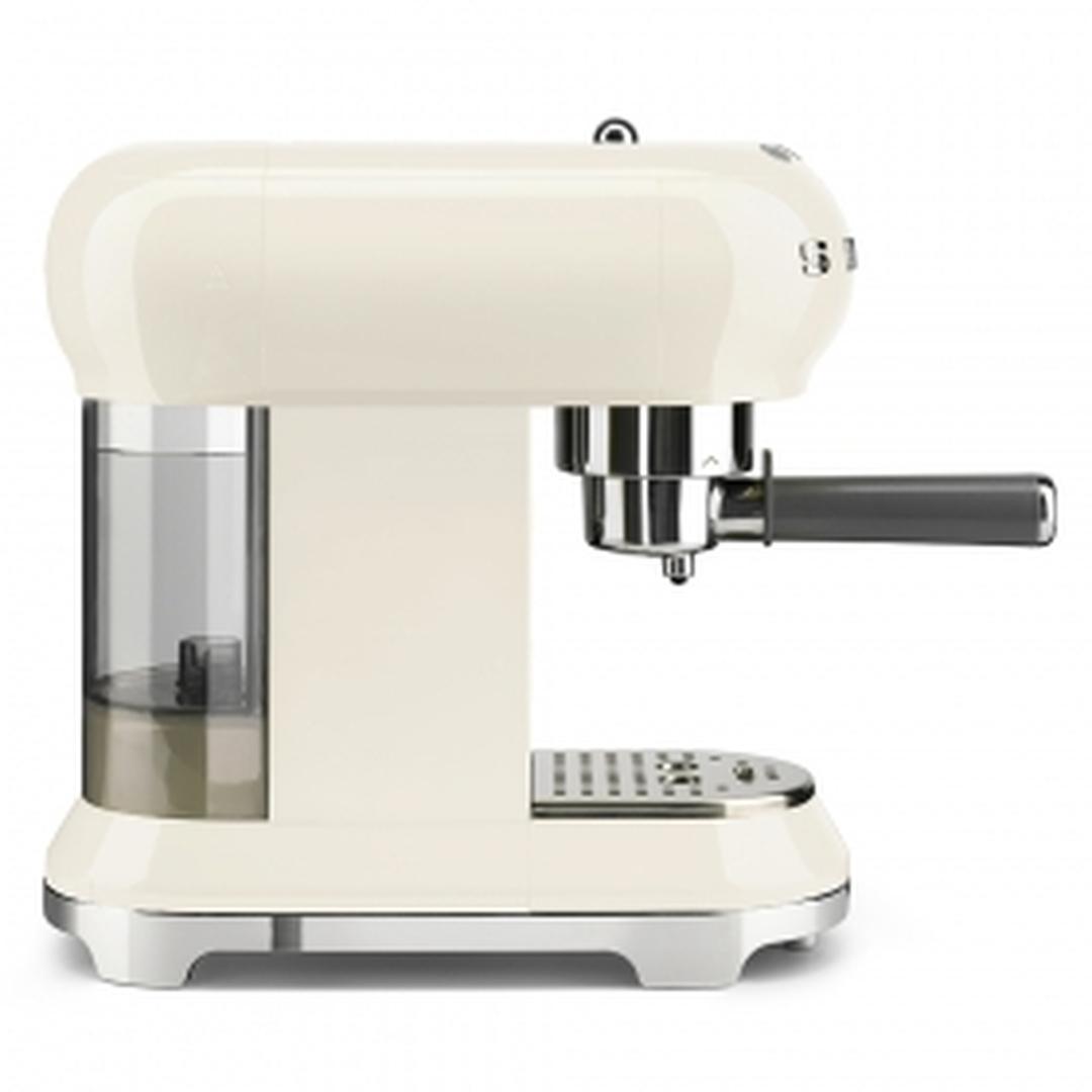 Smeg- Linea 50's Retro Style-  Espresso Kahve Makinesi- Cream Ecf01creu