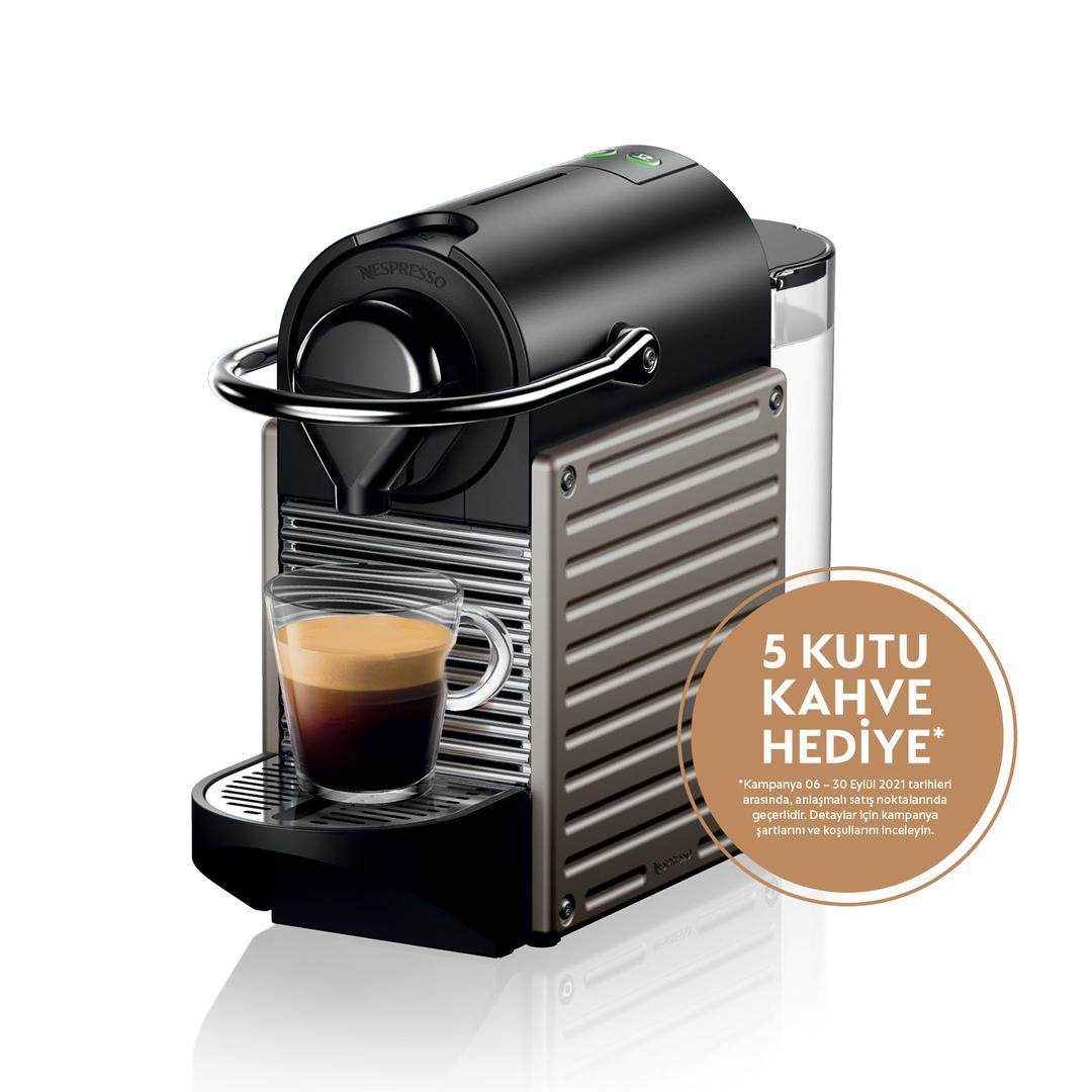 Nespresso C61 Pixie Titan Kapsül Kahve Makinesi